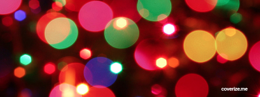 Holiday Twinkle Lights Facebook Cover | coverize.me | Facebook Covers!